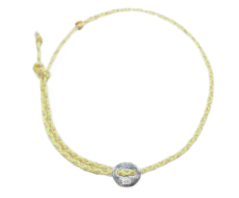 Women's Anklet Neon Yellow and Natural