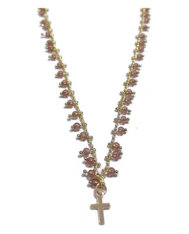 India Necklace with Cross Charm