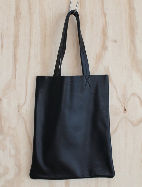Medium Black Leather Tote