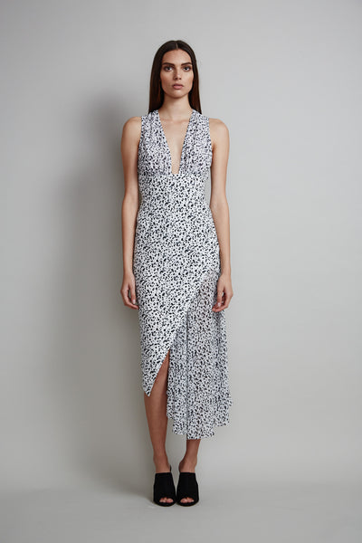 Shona Joy Berlin Sheer Asymmetrical Cocktail Dress