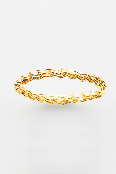 Pink Lou Lou Rope Ring Gold