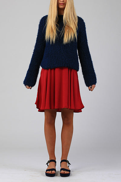 Lilya Scarab Knit Blue