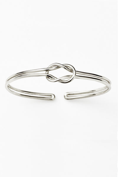 Pink Lou Lou Reef Knot Cuff Silver