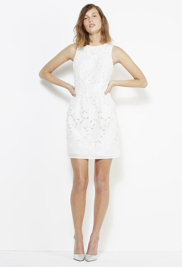 YB J'aime by Yeojin Bae Cut Out Maya Dress White