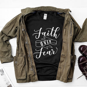 Faith Over Fear- Ultra Cotton Short Sleeve T-Shirt - DFHM10