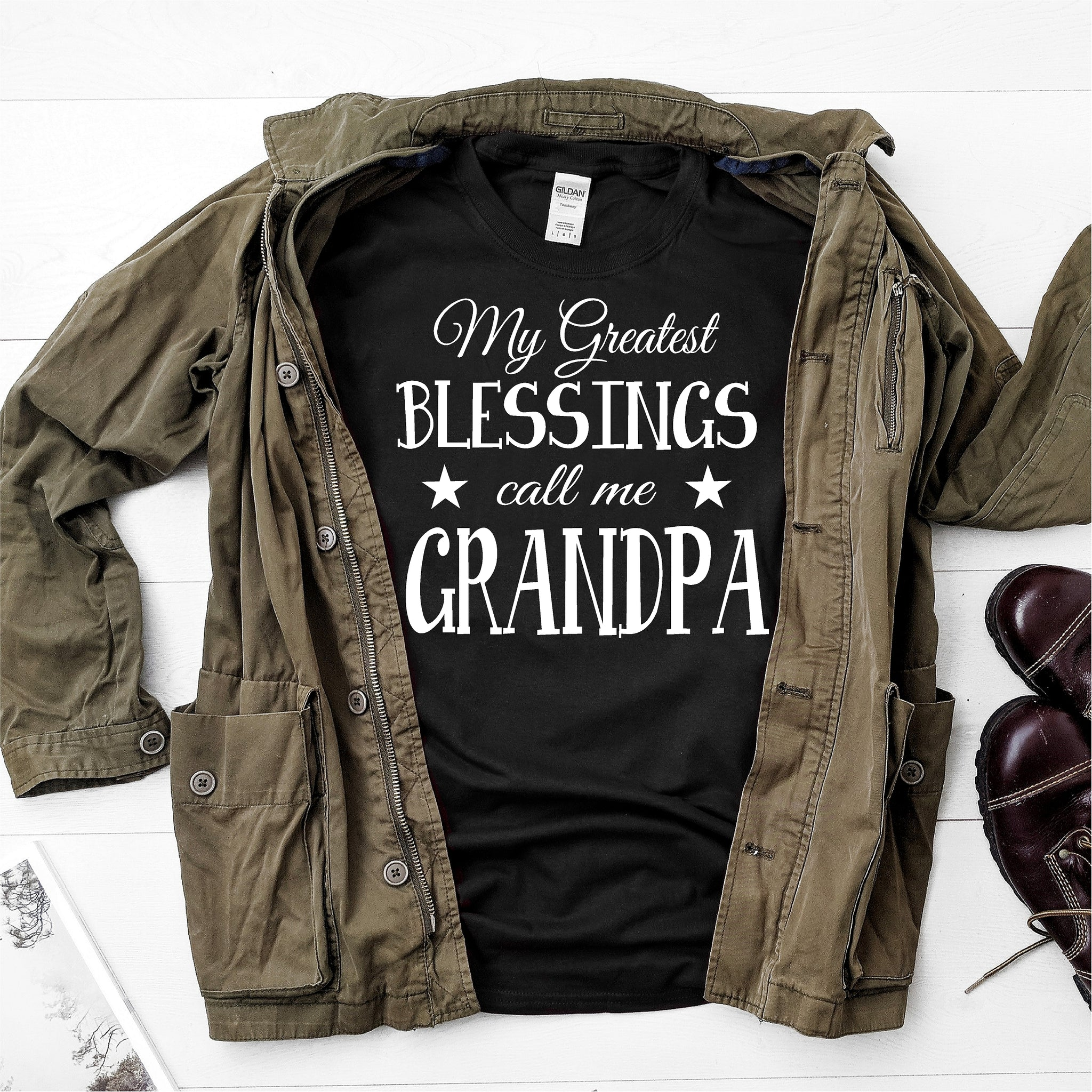 My Greatest Blessings Calls Me Grandpa -  Ultra Cotton Short Sleeve T-Shirt - DFHM29