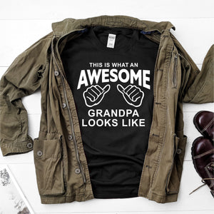 This is what an awesome grandpa looks like- Ultra Cotton Short Sleeve T-Shirt - DFHM59