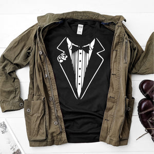 Tuxedo t-shirt tshirt- Ultra Cotton Short Sleeve T-Shirt - DFHM62