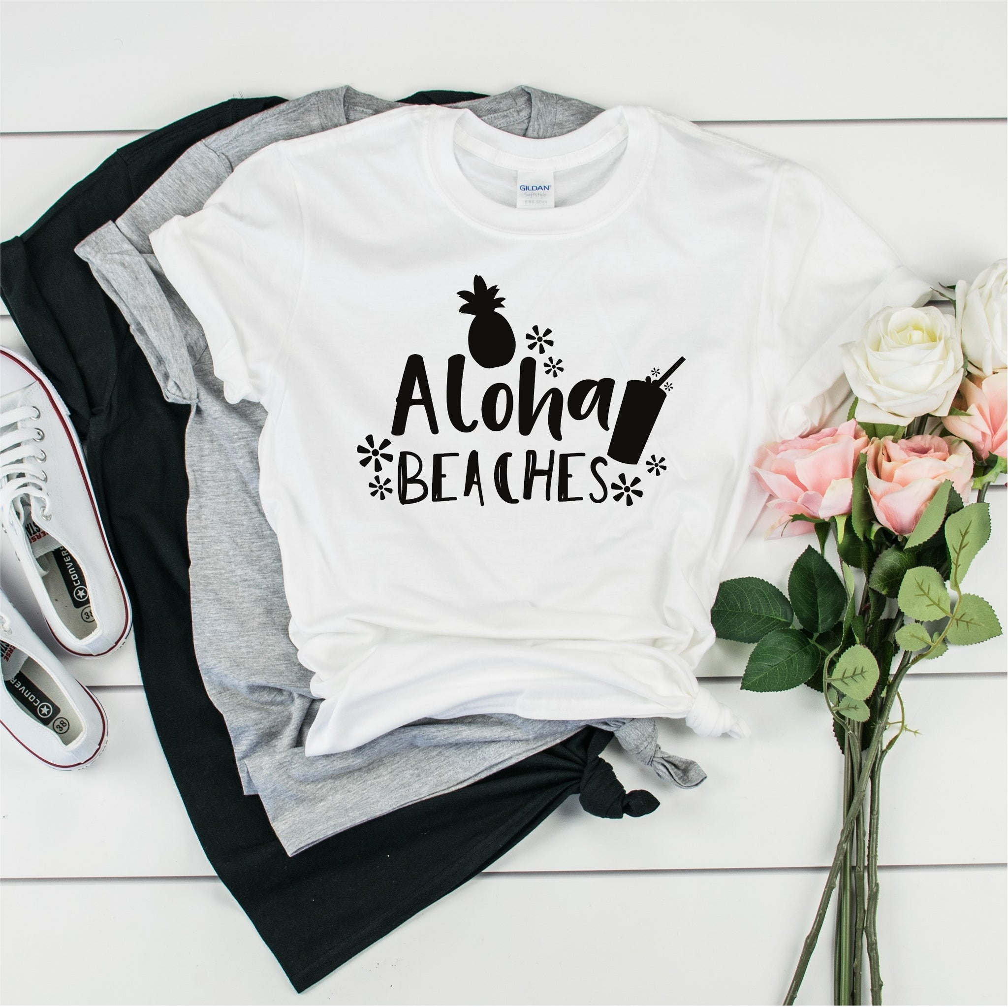 Aloha Beaches- Ultra Cotton Short Sleeve T-Shirt- FHD21