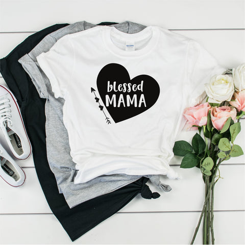 Blessed Mama - Ultra Cotton Short Sleeve T-Shirt- FHD30