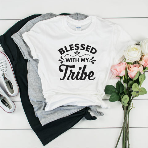 Blessed With My Tribe - Ultra Cotton Short Sleeve T-Shirt- FHD32