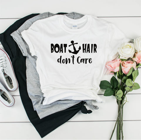 Boat Hair Don't Care - Ultra Cotton Short Sleeve T-Shirt- FHD33
