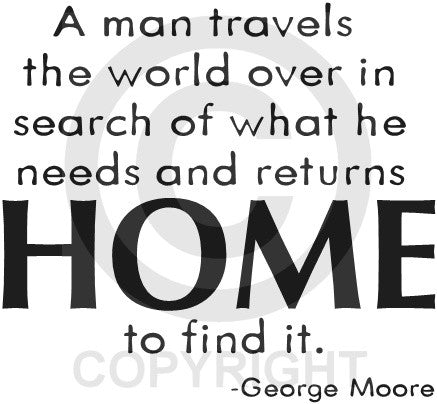 A Man Travels the World (Wall Decal)