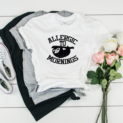Allergic to Mornings-  Ultra Cotton Short Sleeve T-Shirt- FHD09