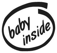 Baby Inside Decal