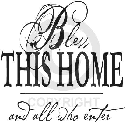 Bless this Home (Wall Decal)