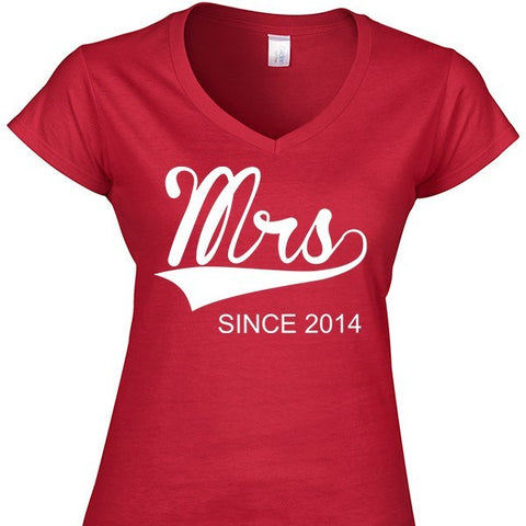 Design - Mrs. Since (Ladies Jr Fit Vneck)