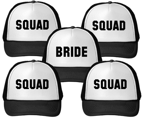 Bride + Squad Trucker Hat Bundle