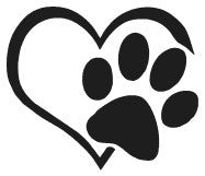 Heart Paw Decal