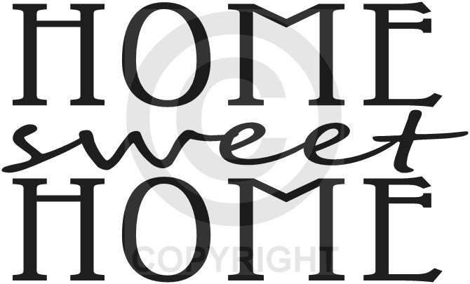 Home Sweet Home (Wall Decal)