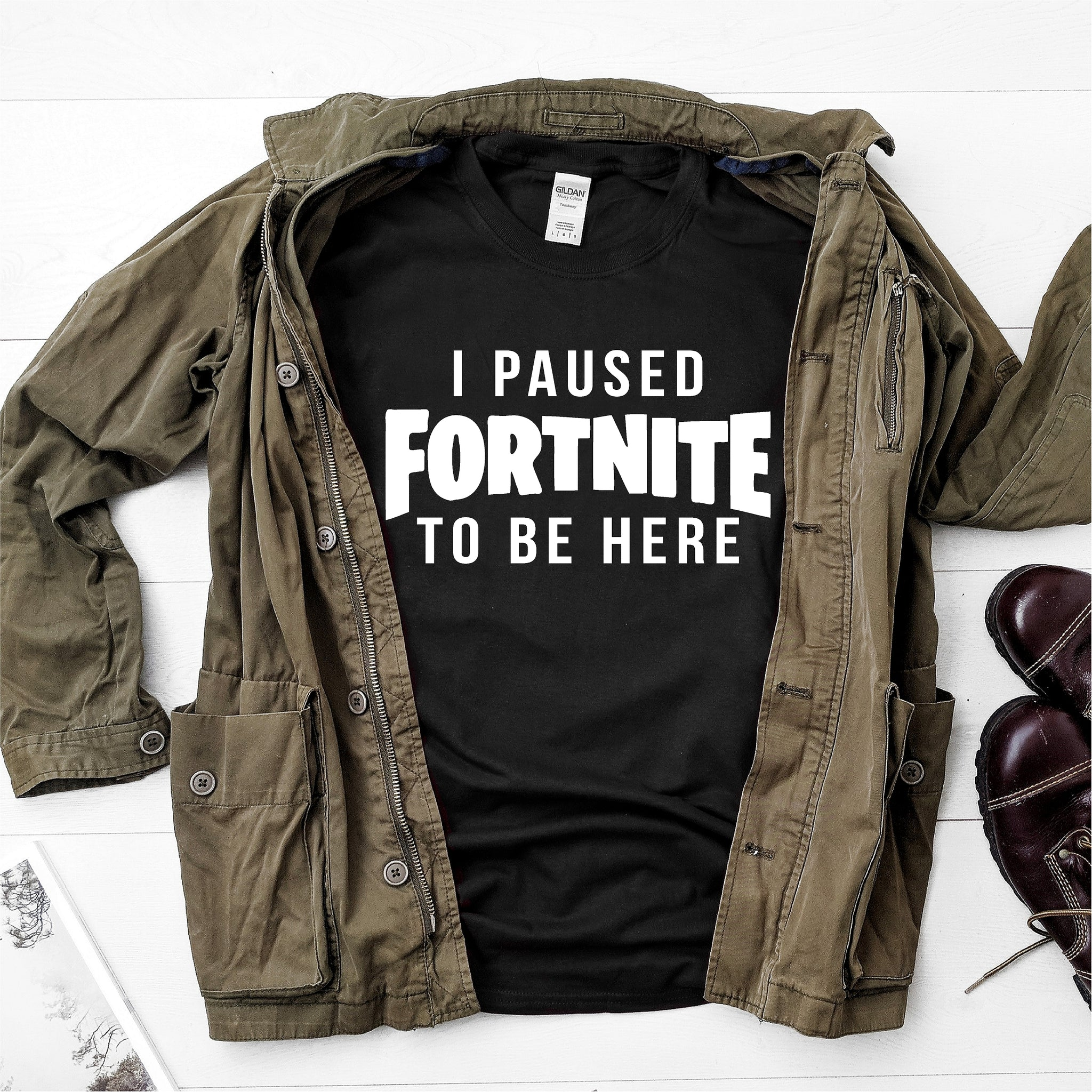 I Paused Fortnite To Be Here-  Ultra Cotton Short Sleeve T-Shirt - DFHM19