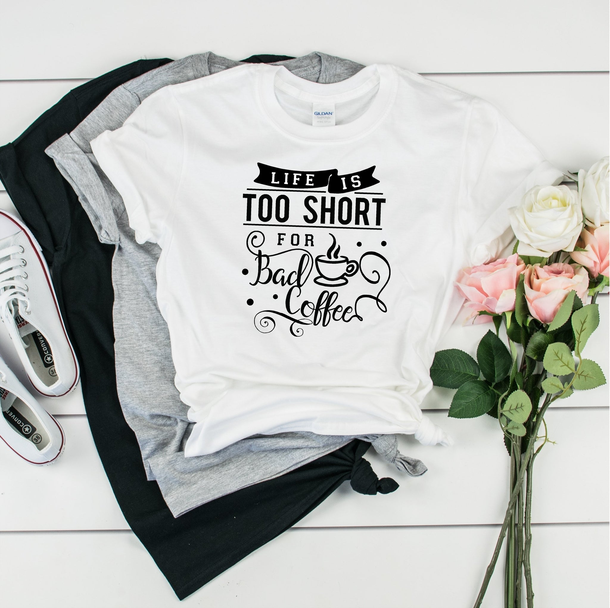 Life Is Too Short For Bad Coffee -Ultra Cotton Short Sleeve T-Shirt- FHD08