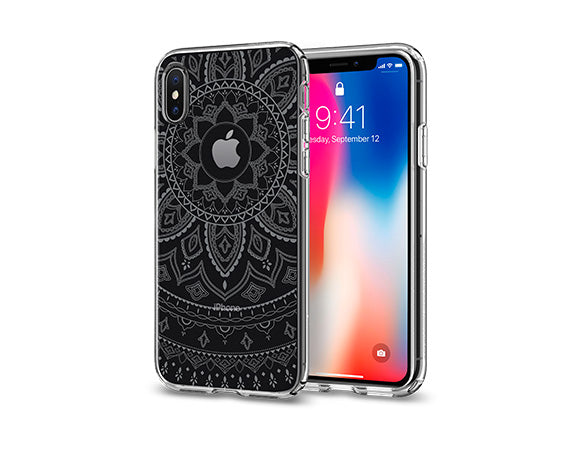 huge selection of 51745 f1a17 Details about iPhone XS/X Spigen® [Liquid Crystal Shine] Pattern Design  Shockproof Case Cover