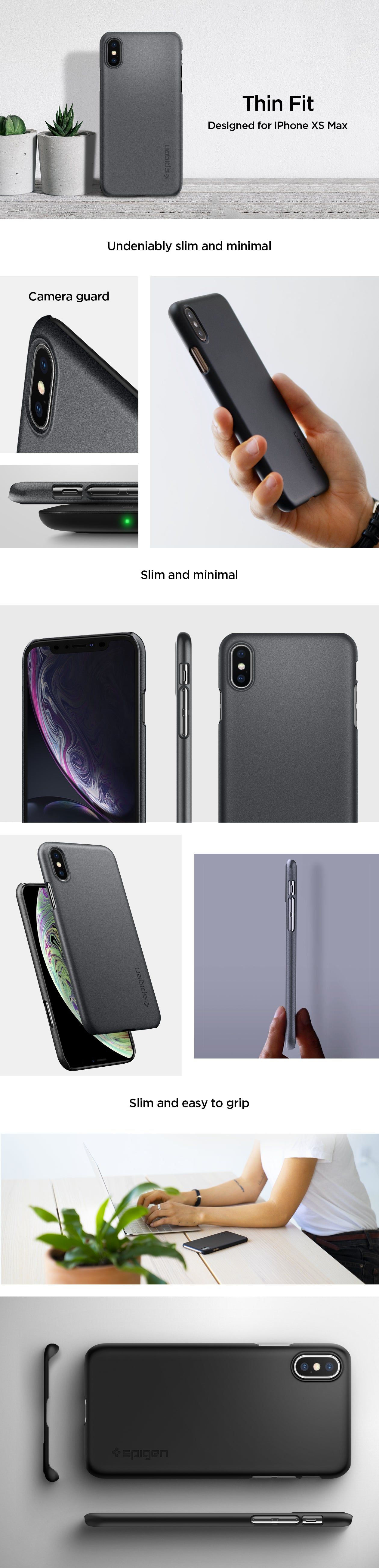 super popular 832c5 eb655 iPhone XS Max Case Thin Fit – Spigen Inc