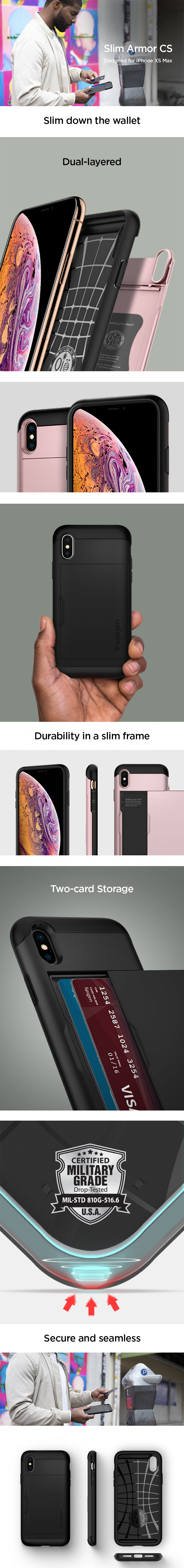 half off 19f23 3a4b8 iPhone XS Max Case Slim Armor CS – Spigen Inc