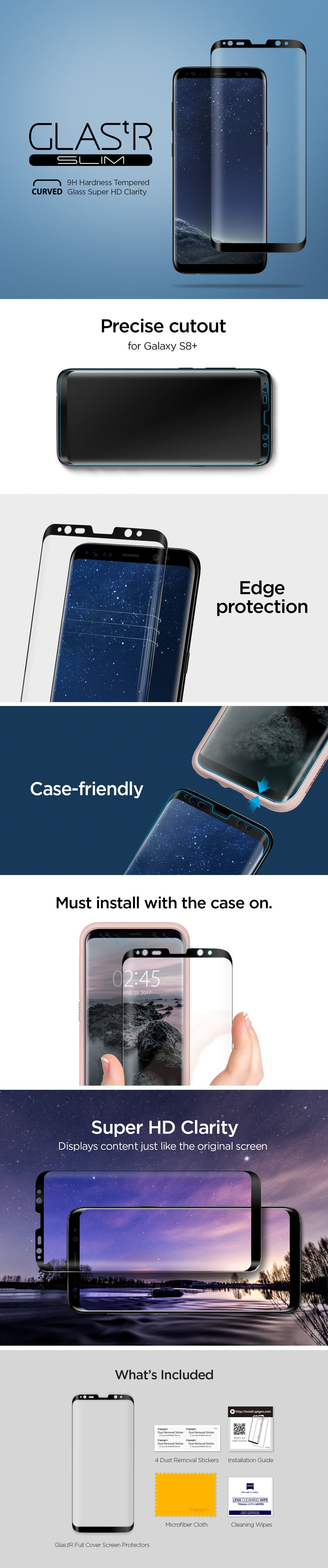 Galaxy S8 Plus Screen Protector Glastr Full Cover Glass Spigen Inc Stiker Carbon Transparan Samsung Note 5 An Error Occurred