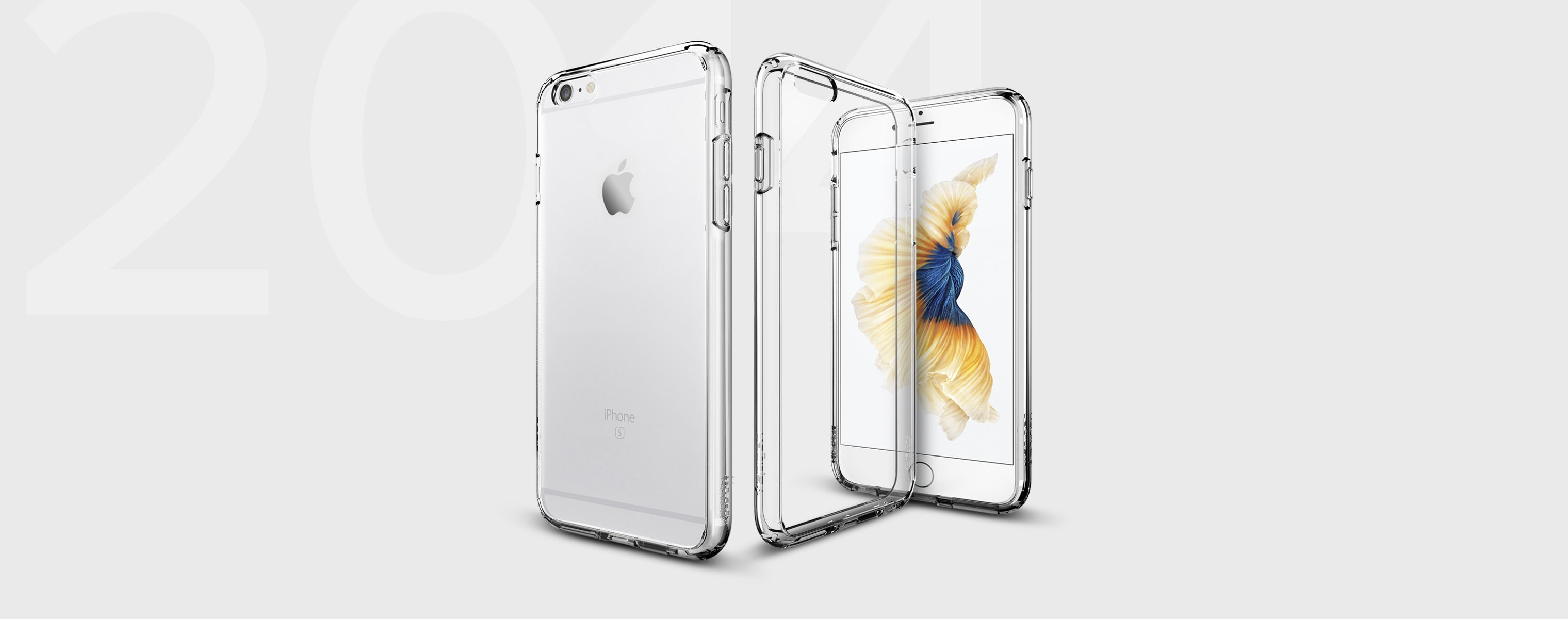 Ultra hybrid clear case on an iPhone showing both the front and back
