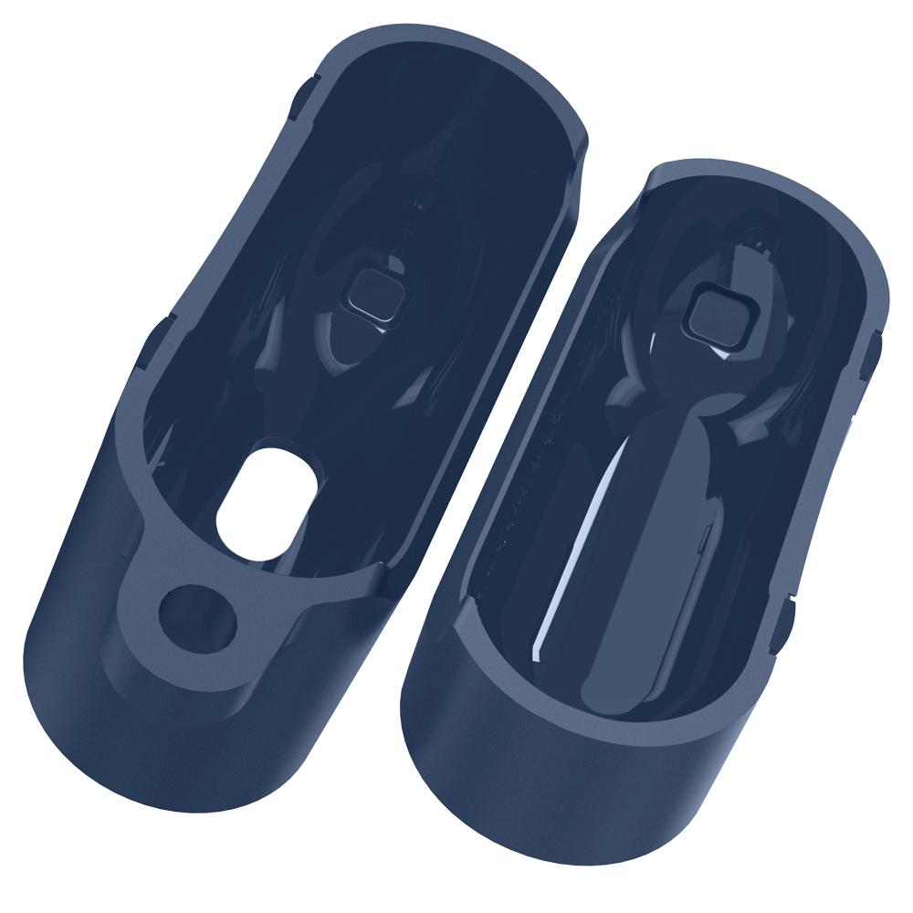 Apple AirPods Pro Case Rugged Armor in deep blue showing the inside