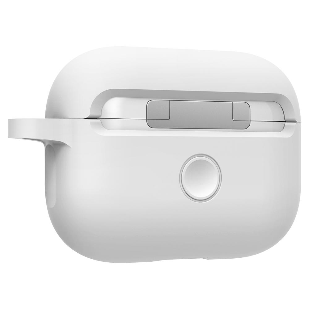 Silicone Fit	White	showing the back design on the	AirPods Pro	device.