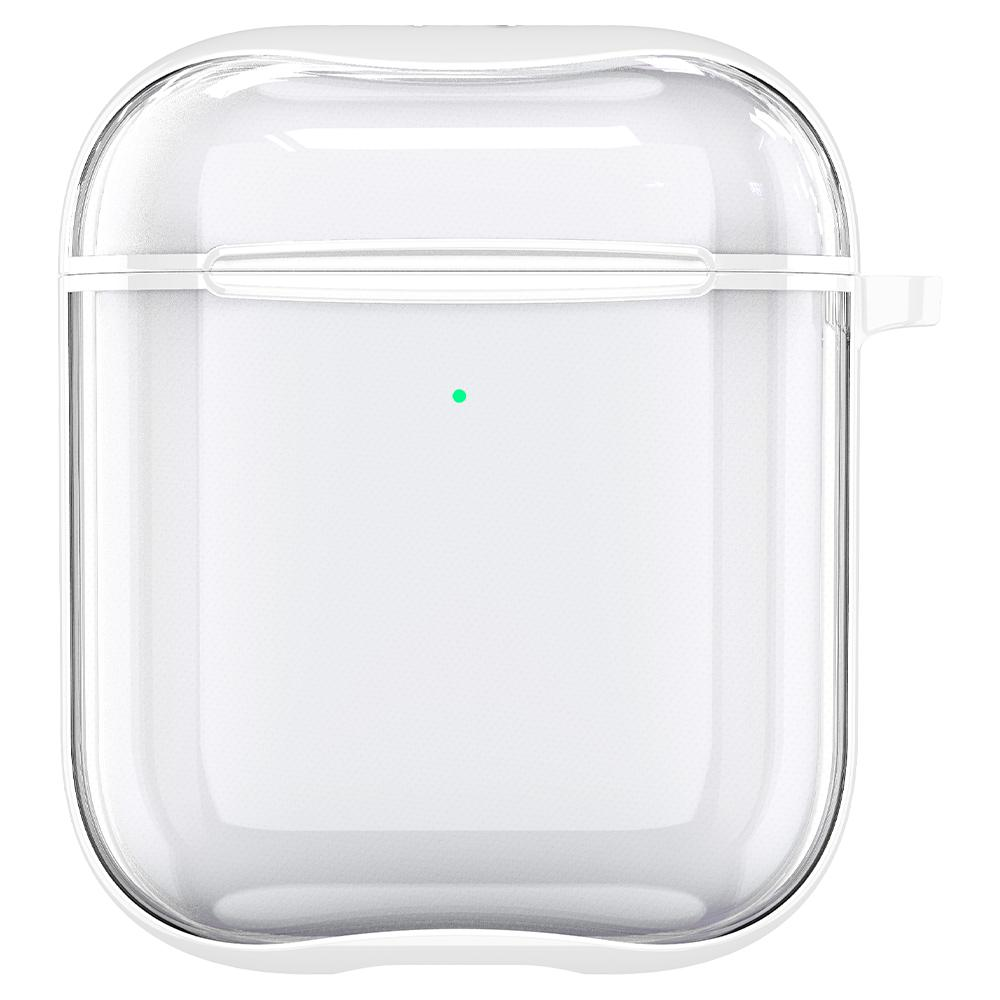 Apple AirPods Case Ultra Hybrid in white showing the front with top closed