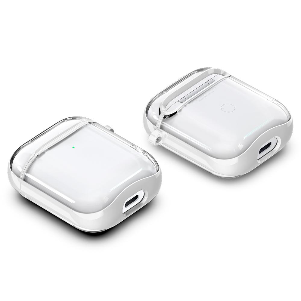Apple AirPods Case Ultra Hybrid in white showing the front, back and bottom