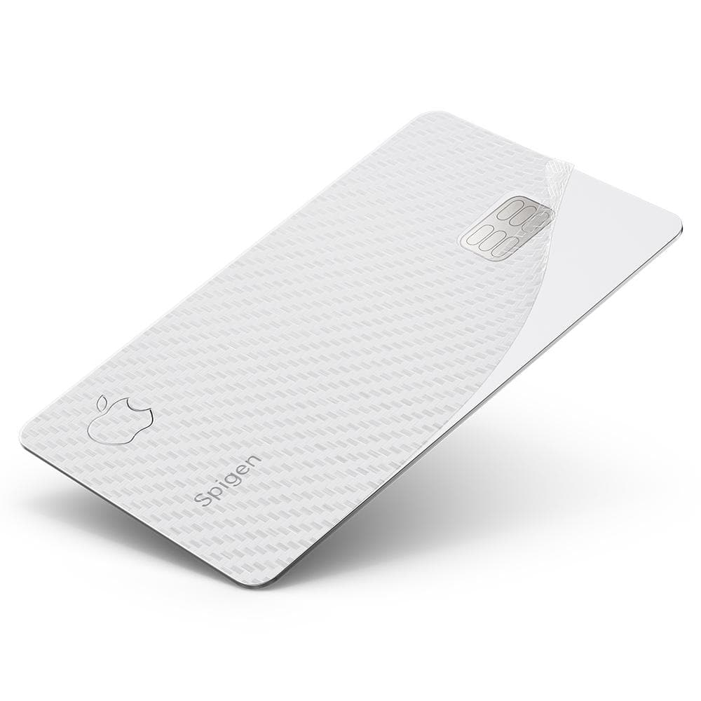 Apple Card Air Skin shown on apple Card peeled away at bottom right