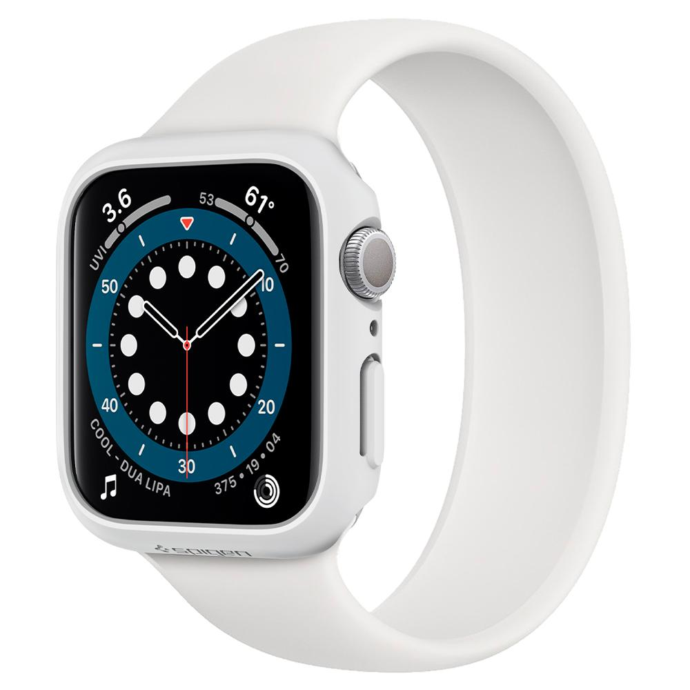 Apple Watch Series SE / 6 / 5 / 4 (40mm) Case Thin Fit in white showing the front and side