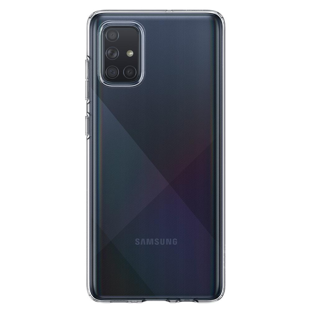 Galaxy A71 Case Liquid Crystal in crystal clear showing the back