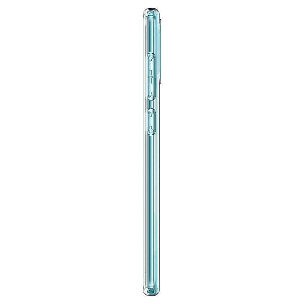 Galaxy A71 Case Liquid Crystal in crystal clear showing the side
