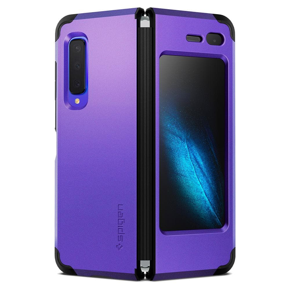 Tough Armor	Astro Blue	Case	back design and a front view of the case around the	Galaxy Fold	device.