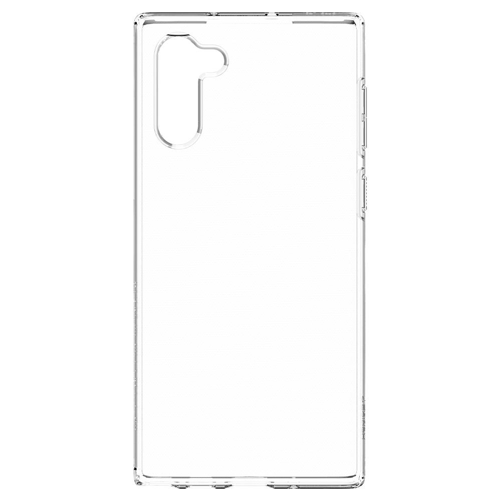 Galaxy Note 10 Case Liquid Crystal in crystal clear showing the back without device