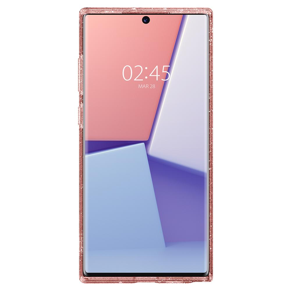 Galaxy Note 10 Plus / 10 Plus 5G Case Liquid Crystal Glitter n rose quartz showing the front