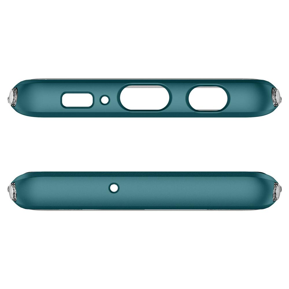 Neo Hybrid NC	Green Case	showing the top and bottom with precise cutouts.