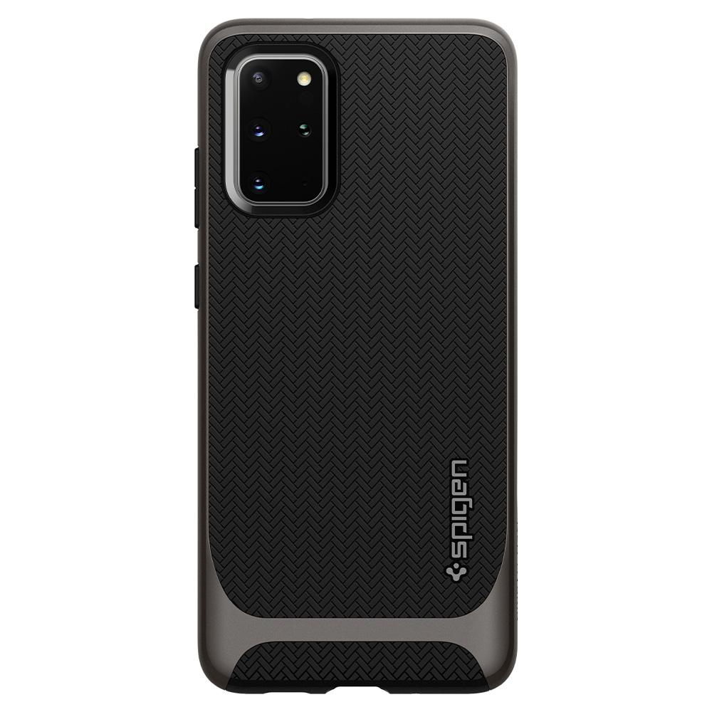 Neo Hybrid	Gunmetal	Case	facing backwards showing the back design with the camera cutout on the	Galaxy S20 Plus	device.