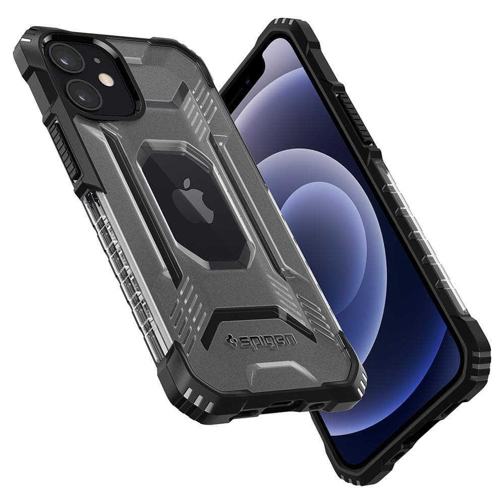 iPhone 12 Mini Case Nitro Force showing the back, side, front and bottom