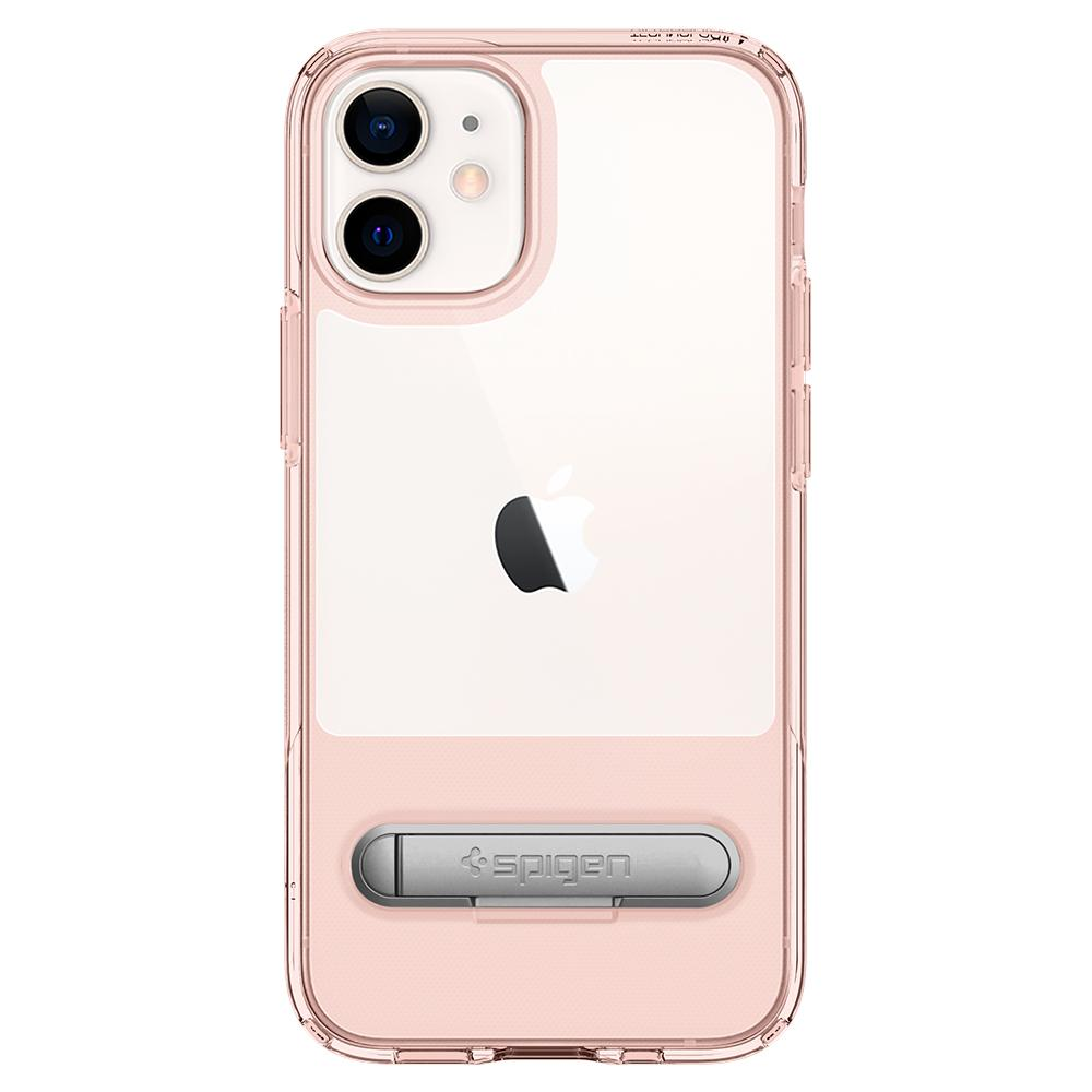 iPhone 12 Mini Case Slim Armor Essential S in rose crystal showing the back with device