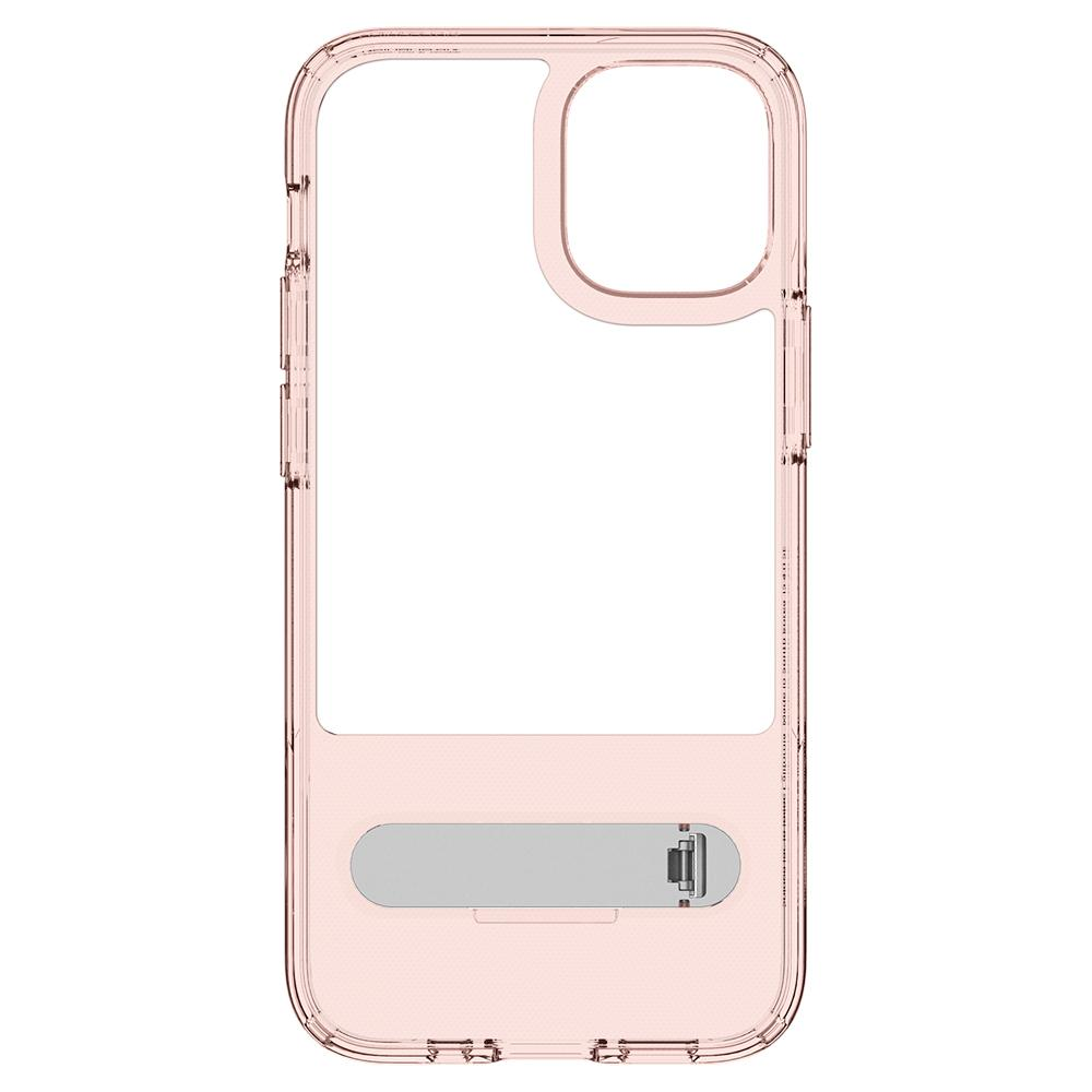iPhone 12 Mini Case Slim Armor Essential S in rose crystal showing the inside
