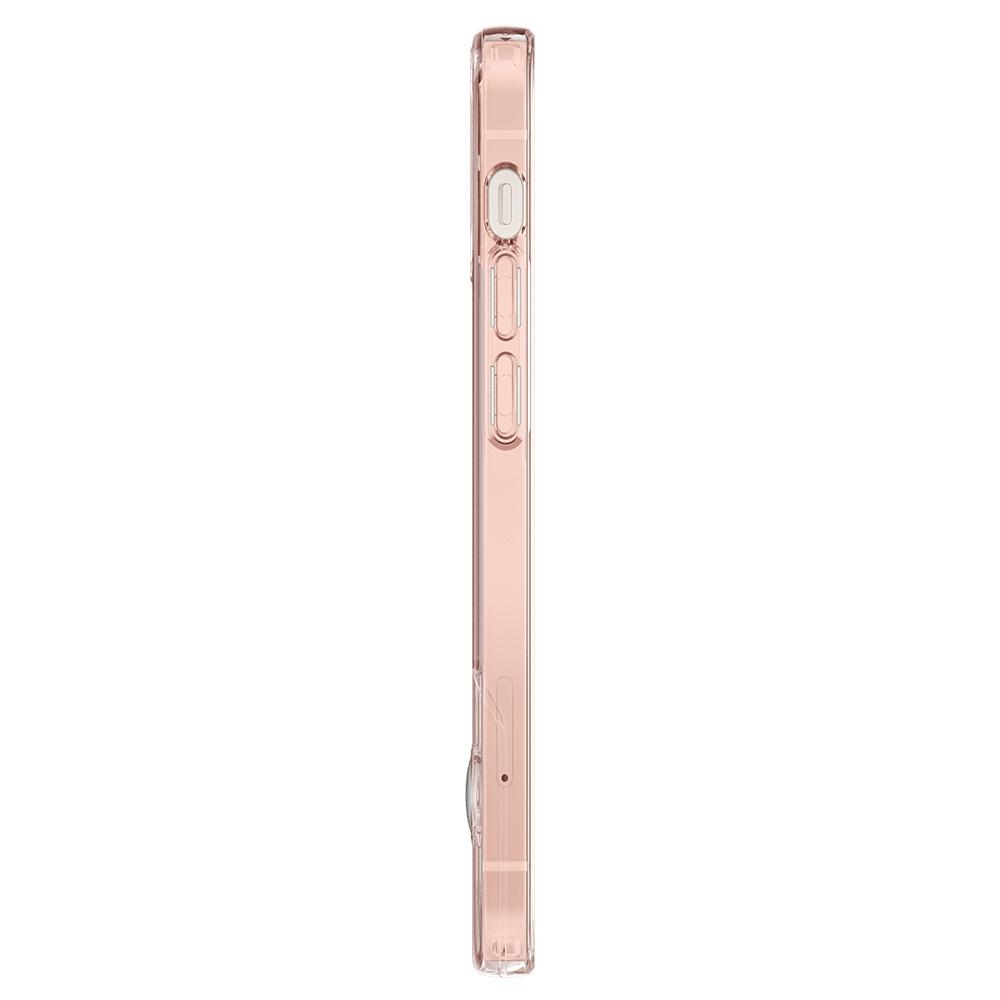 iPhone 12 Mini Case Slim Armor Essential S in rose crystal showing the side