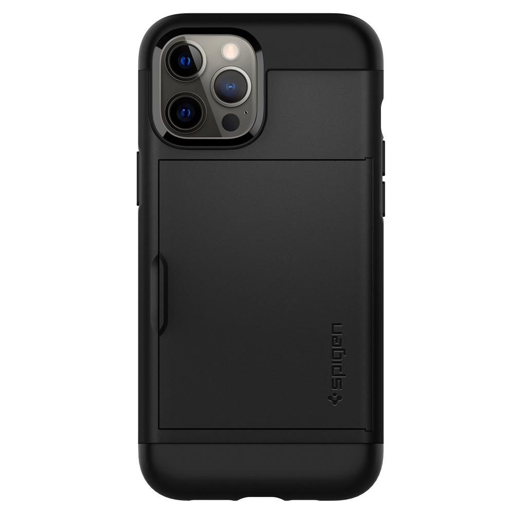 iPhone 12 Pro Max Case Slim Armor CS in black showing the back