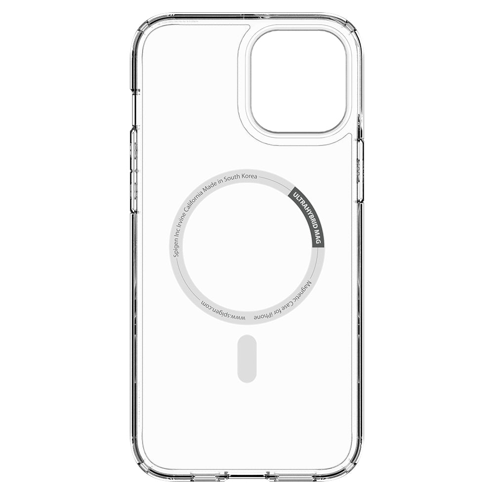 iPhone 12 Pro Max Case Ultra Hybrid Mag Safe Compatible in white showing the inside